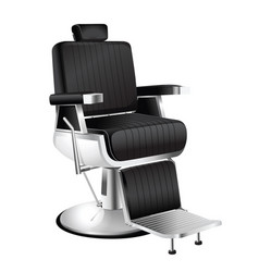 black barber chair vector image