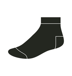 Black sock template vector image