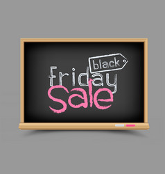 Blackboard black friday sale vector