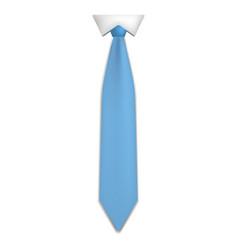 blue necktie icon realistic style vector image