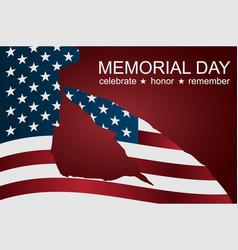 captain saluting usa flag for memorial day vector image