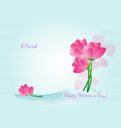 card background flowers-2 vector image