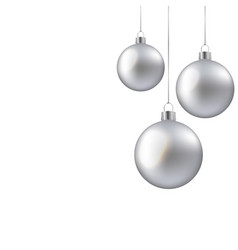 Christmas balls isolated vector