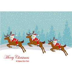 Christmas santa claus move gifts vector