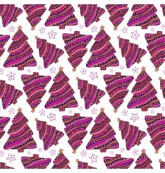 Christmas seamless pattern purple wrapping vector