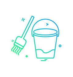 cleaning icon design vector image