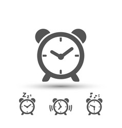clock icons set images vector image