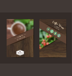 Coffee background geometric flyer cover business vector