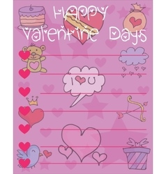 Collection stock of valentine day card vector