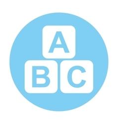 Cubes blocks alphabet icon vector