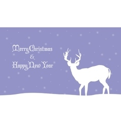 Deer winter Christmas scenery vector