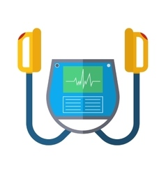 Defibrillator unit isolated medical icon vector image