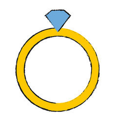 diamond ring icon vector image