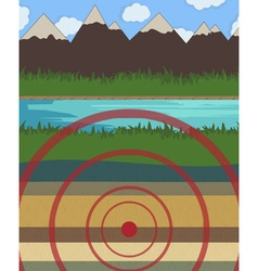 Earthquake vector image