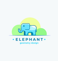 Elephan geometry design abstract sign vector
