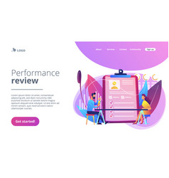 Employee assessment concept landing page vector