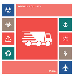 express delivery icon delivery car elements for vector image