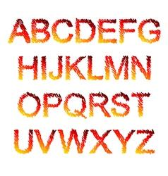 Fiery font vector