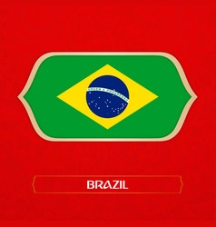 Flag of brazi is made in football style vector