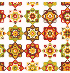 folk art mosaic tile pattern vector image