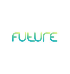 future logo minimal design with gradient vector image