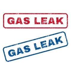 Gas leak rubber stamps vector