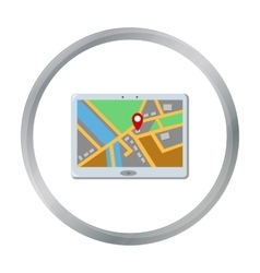 GPS icon of for web and mobile vector