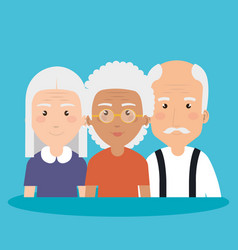 grandparents group avatars characters vector image