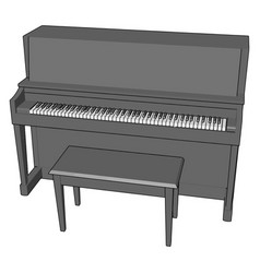 gray piano on white background vector image