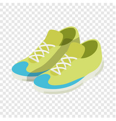 green sneakers isometric icon vector image