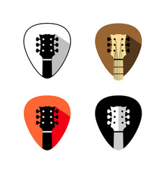 guitar headstock logo mediator shape design vector image