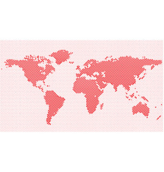 Halftone circle pattern world map background vector