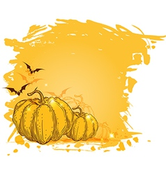 halloween yellow background vector image