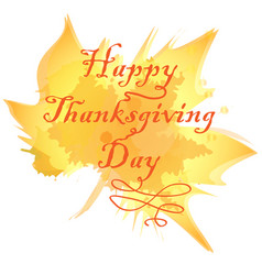 Happy thanksgiving inscription on background vector