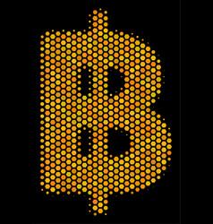 Hexagon halftone baht icon vector