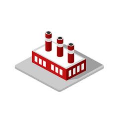 industrial factory decorative icon vector image