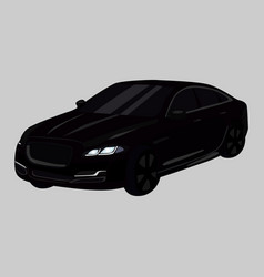 Jaguar car icon on a grey background black vector