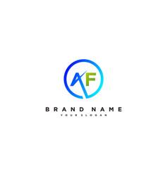 Letter af logo design vector