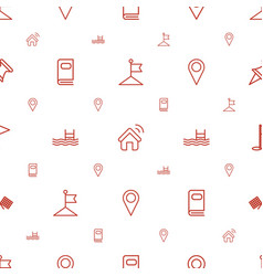 Location icons pattern seamless white background vector