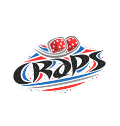 Logo for craps game vector