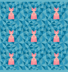 Low poly geometric pattern vector
