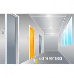 make the right choice vector image