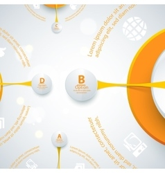 Modern orange design of info-graphics vector image