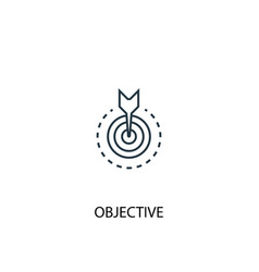 objective concept line icon simple element vector image