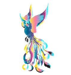 phoenix pestel fire bird vector image