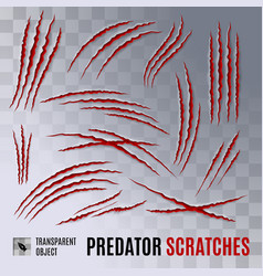 predator scratches vector image