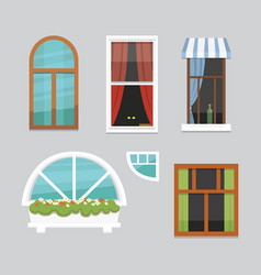 printdifferent interior windows of various forms vector image
