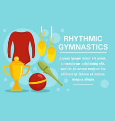 rhythmic gymnastics equipment concept banner flat vector image