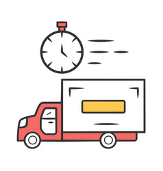 same day delivery color icon fast shipping vector image