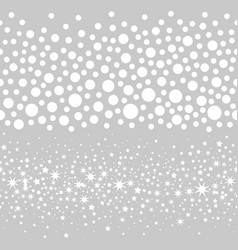 Seamless snow balls vector